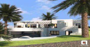 new Villa with sea views in Puerto Calero